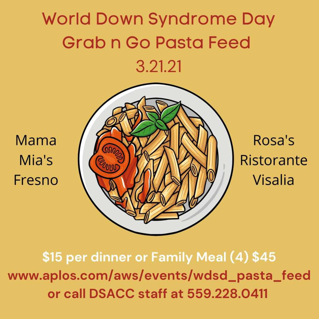 World Down Syndrome Day Grab n Go Pasta Feed